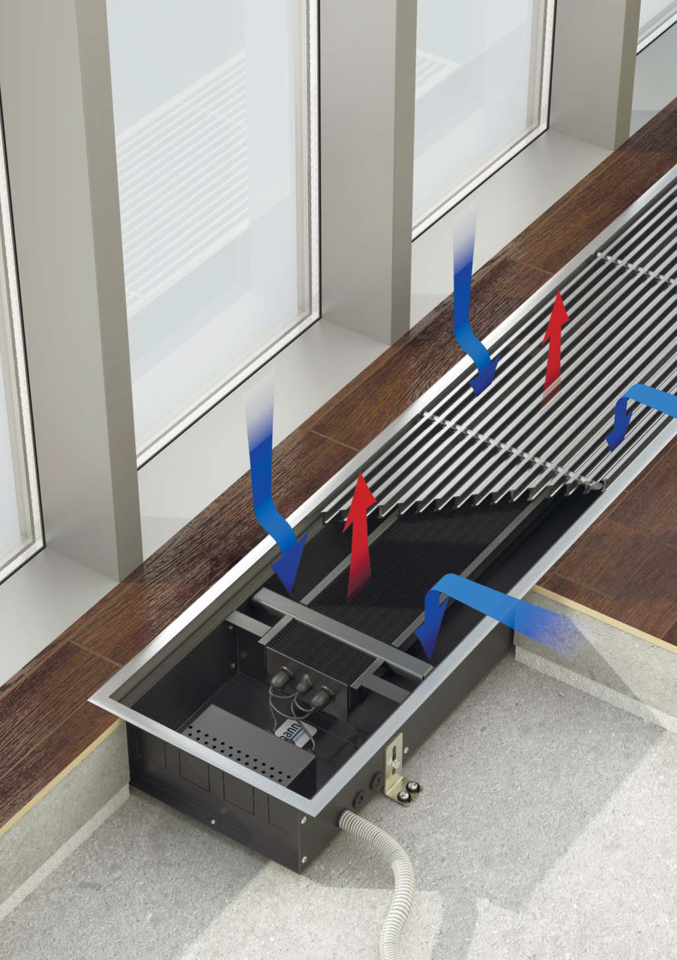 Обогреватель в полу под окном электрическая схема